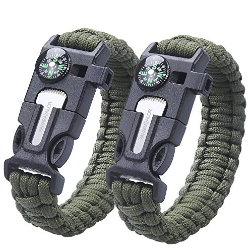 Bracelet de survie 2PCS PACK ,...
