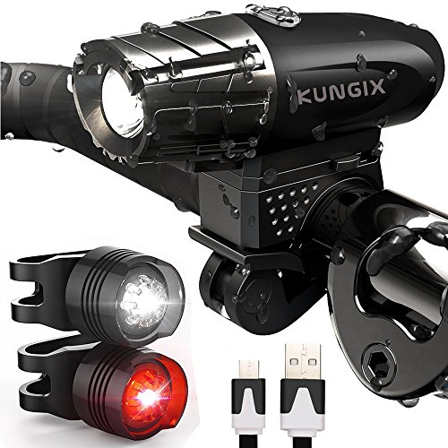 KUNGIX LED Bicycle Light, 3 in...