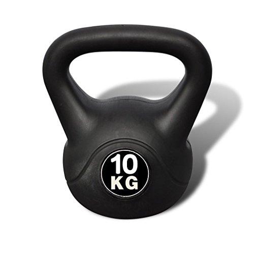 vidaXL Poids noir russe de 10 kilos...