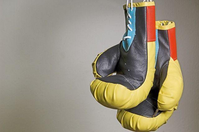 Gants de boxe jaunes