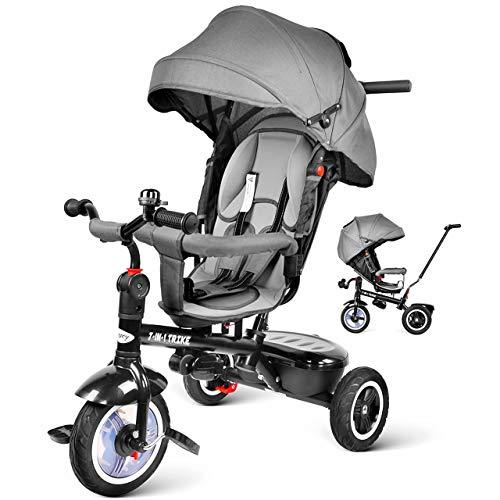 besrey Tricycle inclinable 7 en 1 pour bébés...