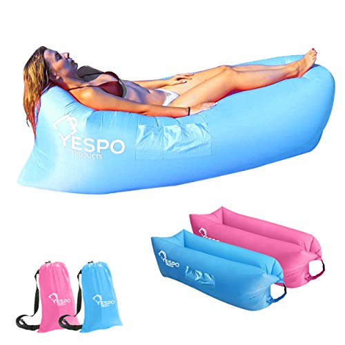 YespoProducts, canapé gonflable avec sac...