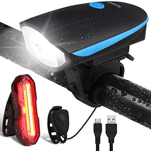 OMERIL Lumière de vélo rechargeable USB,...