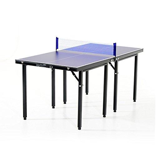 Table de ping-pong pliante 153x76.5x67cm +...