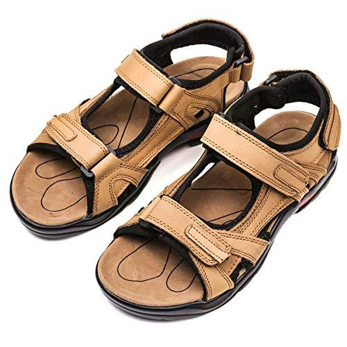 Sandales de sport en cuir gris pour...