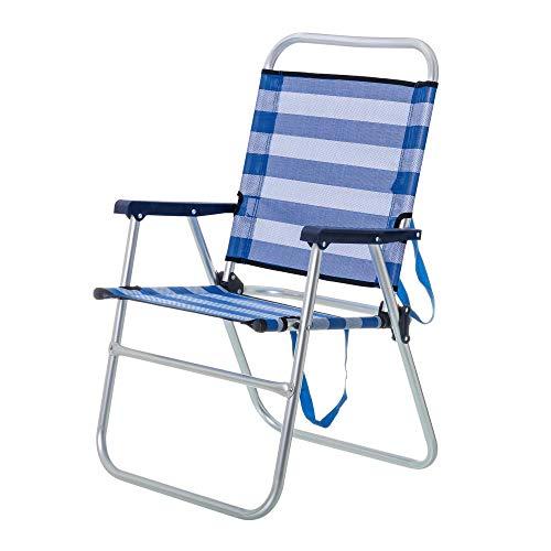 Chaise pliante pour la plage ou le camping Blue...