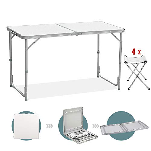 Table de camping pliante Sunreal de 122...
