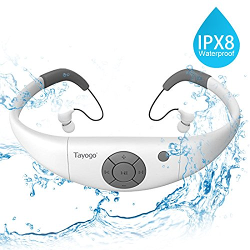 Écouteurs IPX 8 Mp3 étanches, 8 Go De...