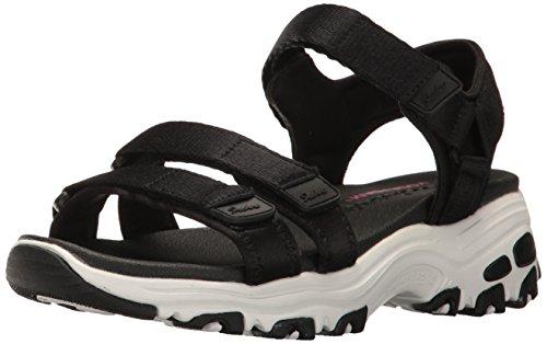 Skechers D'lites Sandales pour femmes noires
