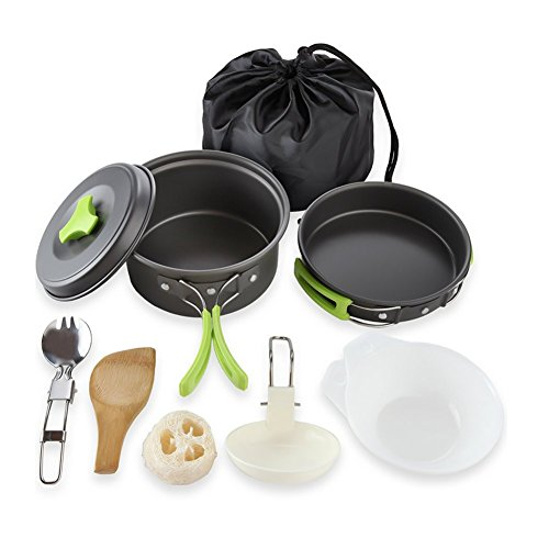 Qtiwe 10 piece Cookware Kit Picnic...