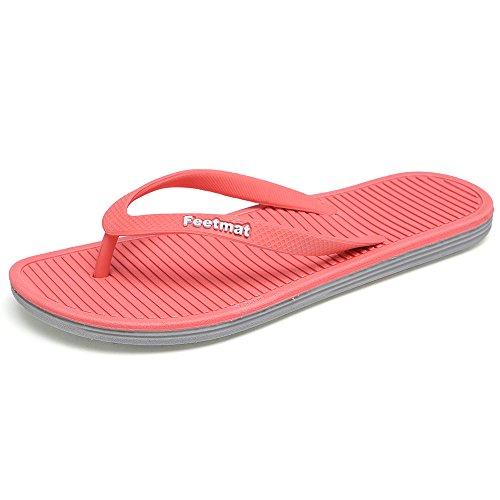 QANSI - Sandales rouges pour femmes,...