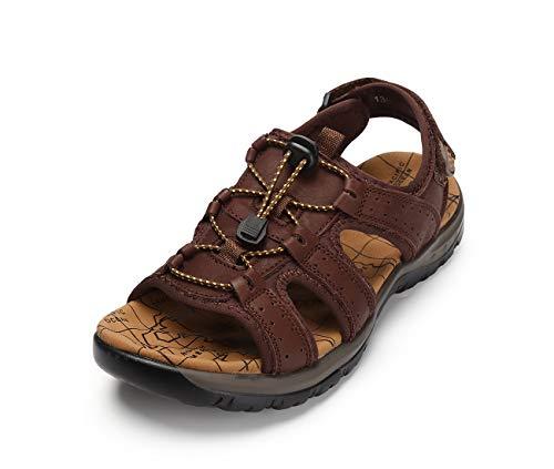 Sandales en cuir véritable pour hommes Motorun...
