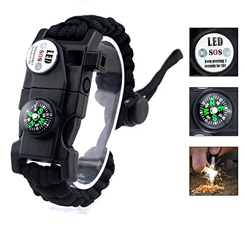 JCT GIFT Survival Bracelet Paracord...