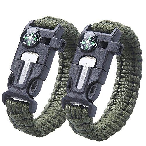 Bracelet de survie 2PCS PACK ,...