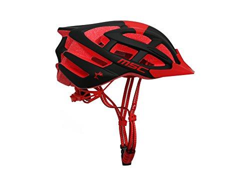 MSC Bikes HX100SMBKRD Casque de VTT, Rouge...