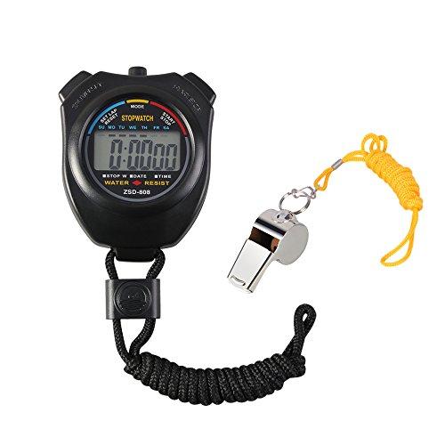 Chronomètre numérique Vicloon avec sifflet...